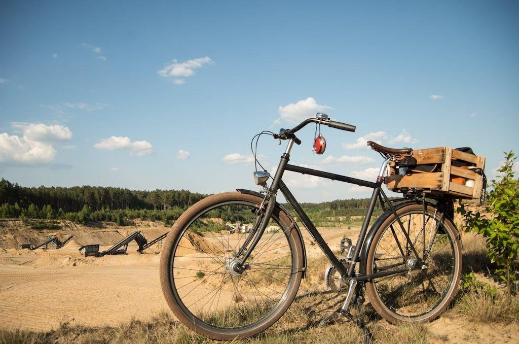 Radfahrer-Rmantik an der Kiesgrube