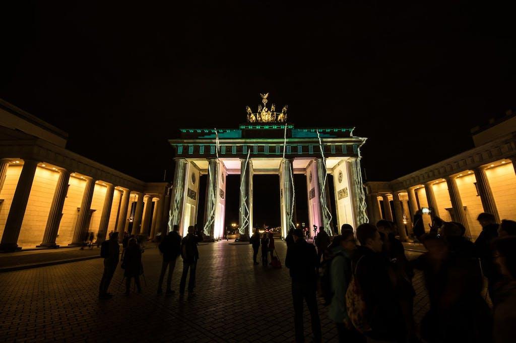 Das Brandenburger Tor am Pariser Platz im Rahmen de Festival of Lights 2016