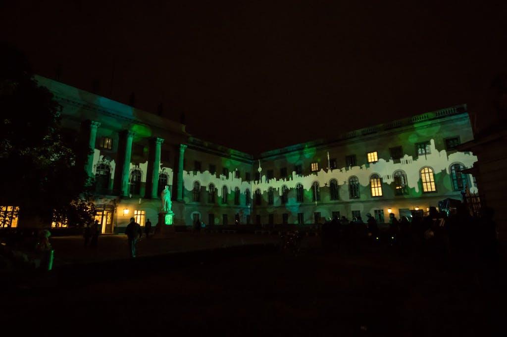 humboldtuni, Unter den Linden, Festival of Lights 2016 Berlin