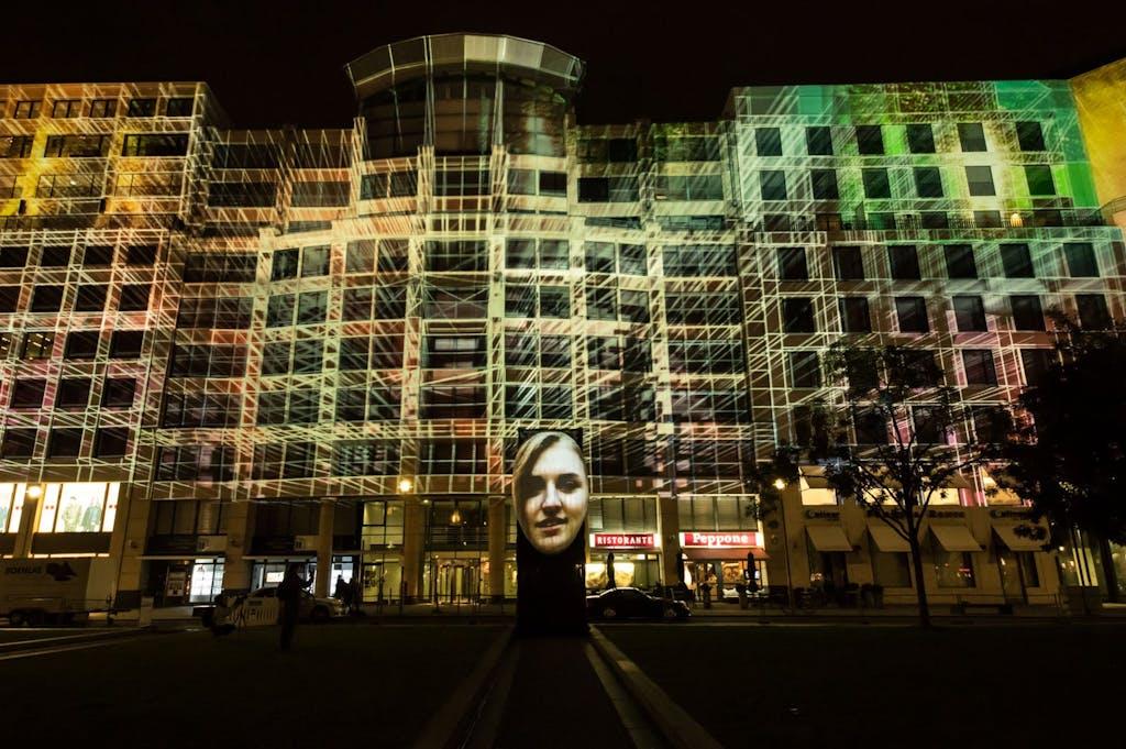 Die Mall of Berlin beim Festival of Lights