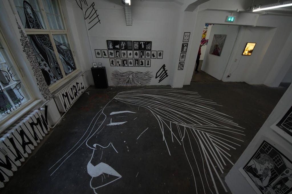 Tape Art Convention in der Galerie Neurotitan im Haus Schwarzenberg.