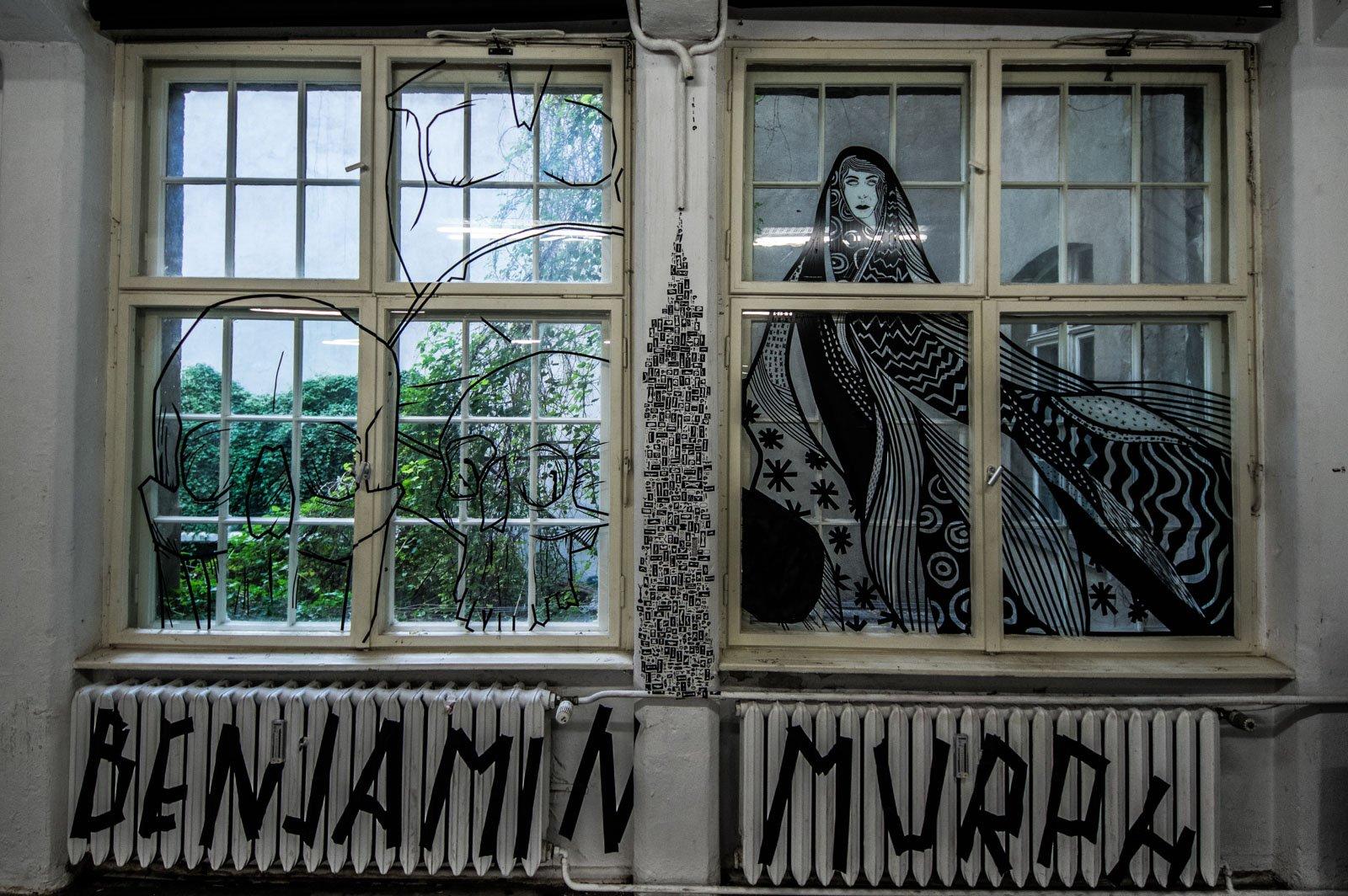 Tape Art im Haus Schwarzenberg.