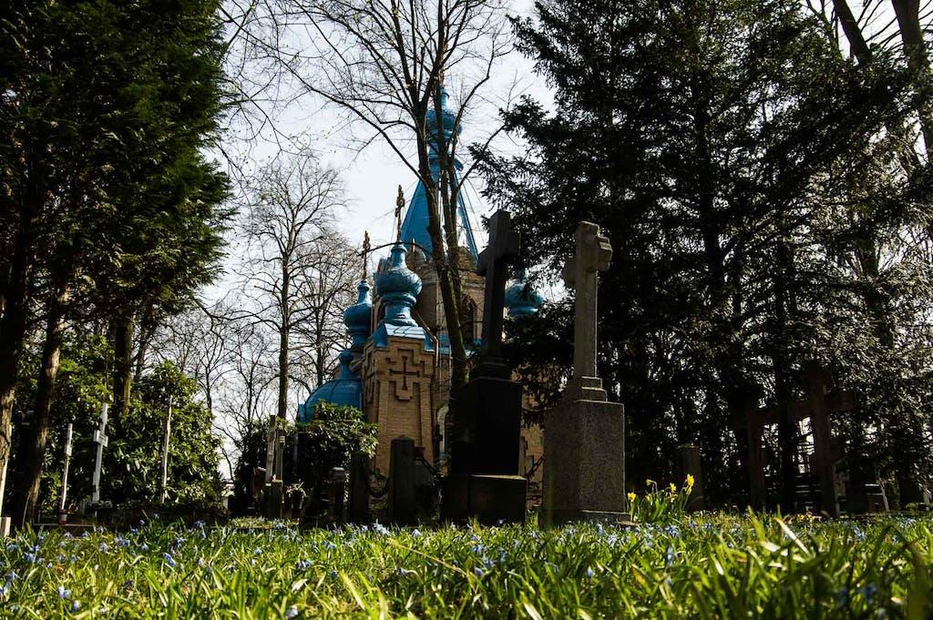 St. Konstantin und Helena kirche auf dem russisch-orthodoxen Friedhof in Tegel