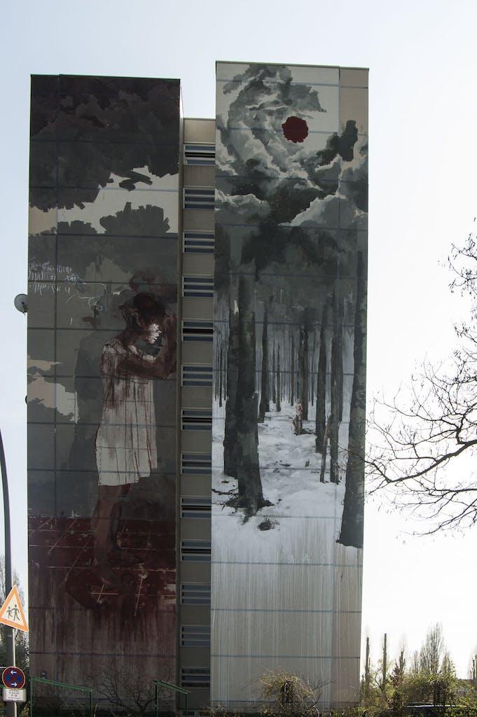 Urban Nation; One Walls Project, Mural von Borondo