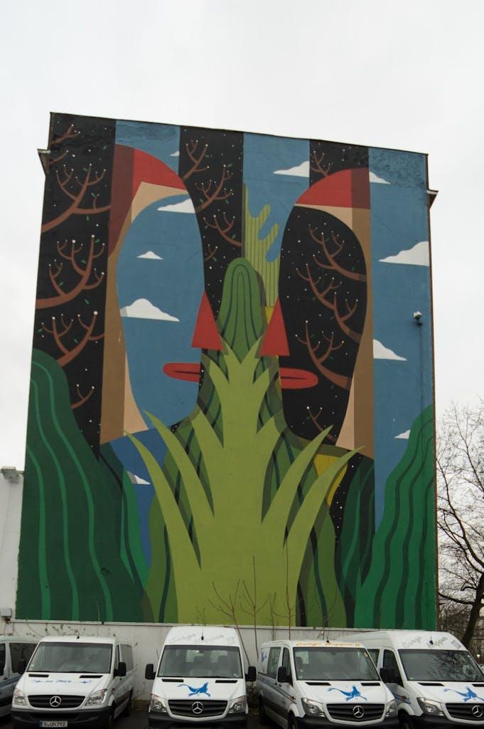 Street Art Mural in Berlin Kreuzberg von Agostino Iacurci