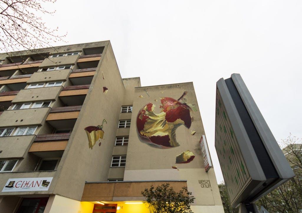 Mural in der Prinzenstraße von Onur & Wes One