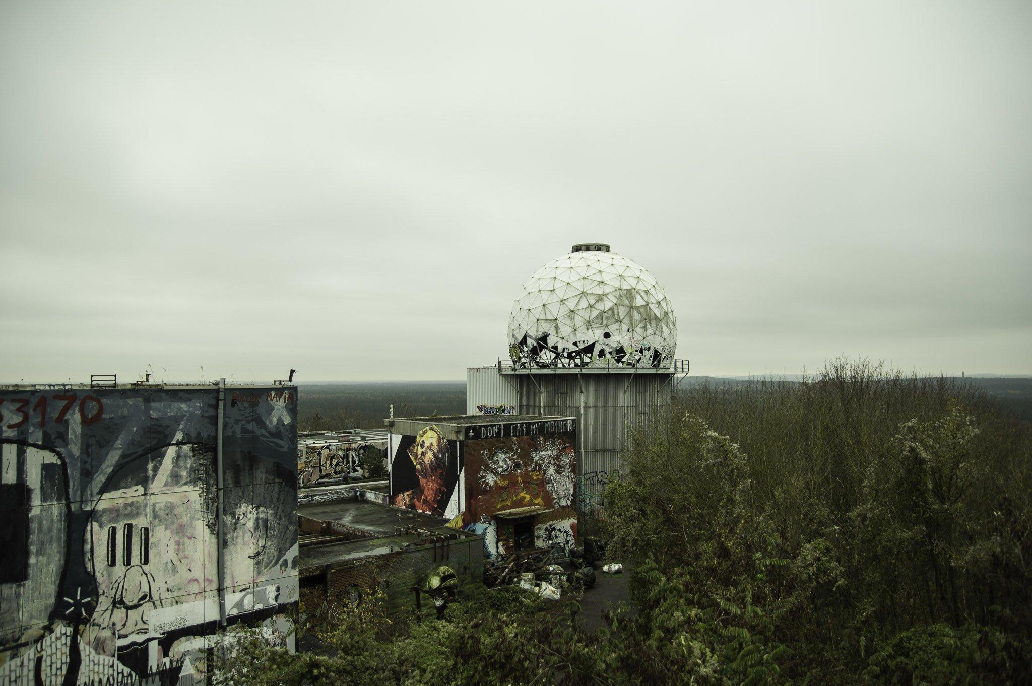 The dome at Teufelsberg radar station