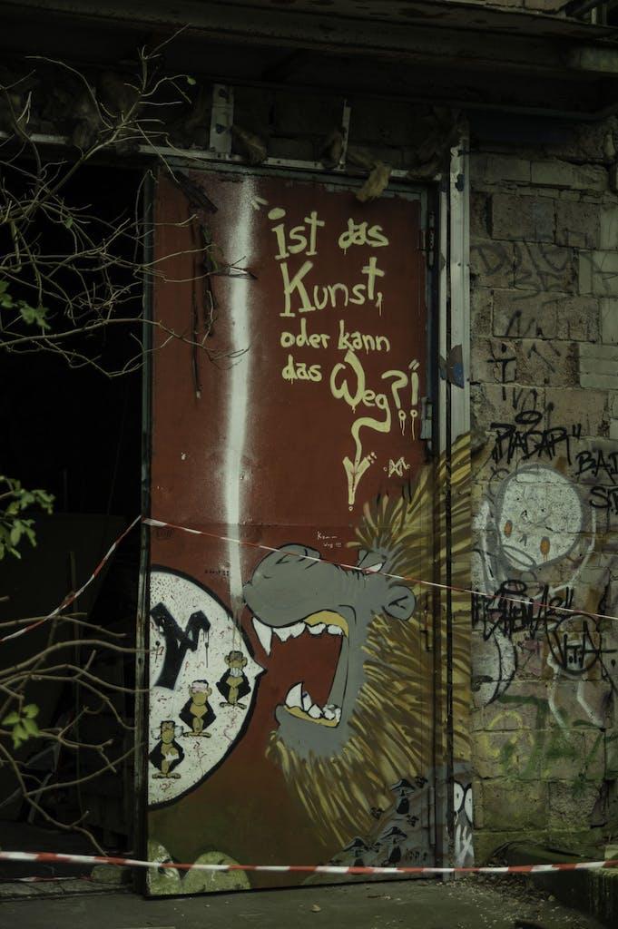 Ist das Kunst oder kann das weg? Grafitti