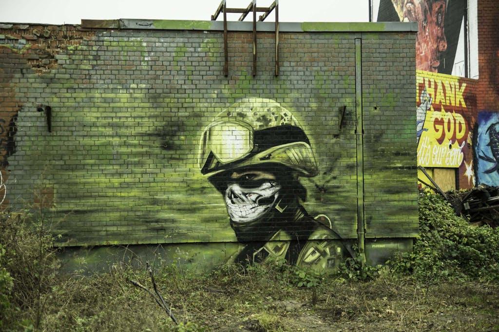 Plotbot Ken grafitti at Teufelsberg radar station