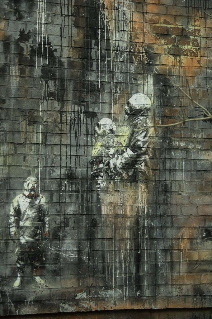 Plotbot Ken grafitti at Teufelsberg
