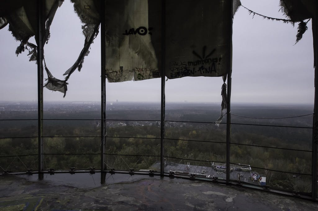 View from the top of Teufelsberg radar station