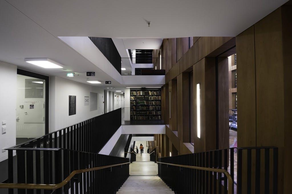 stairway in Jacob- und Wilhelm-Grimm Zentrum, HU Berlin