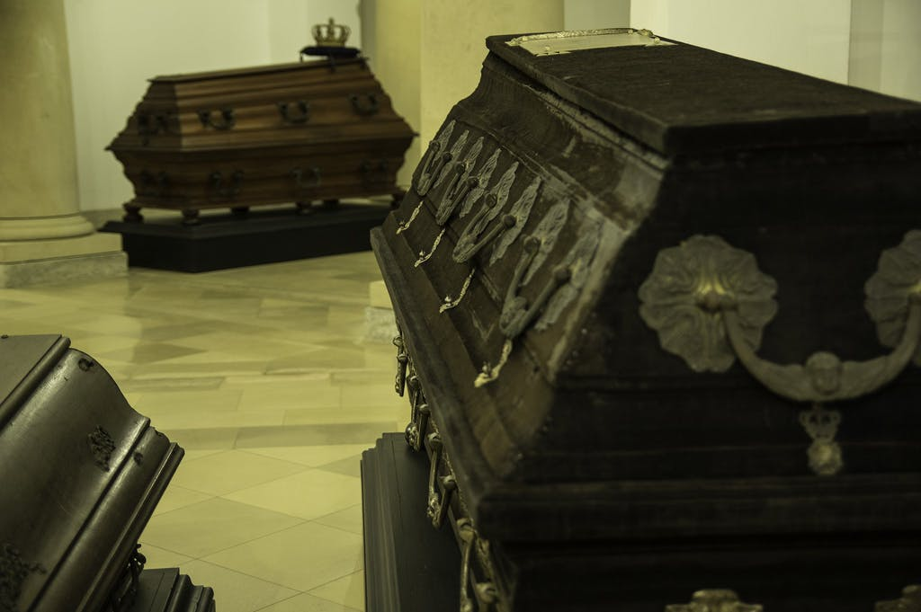 Coffins inside Berlin cathedral