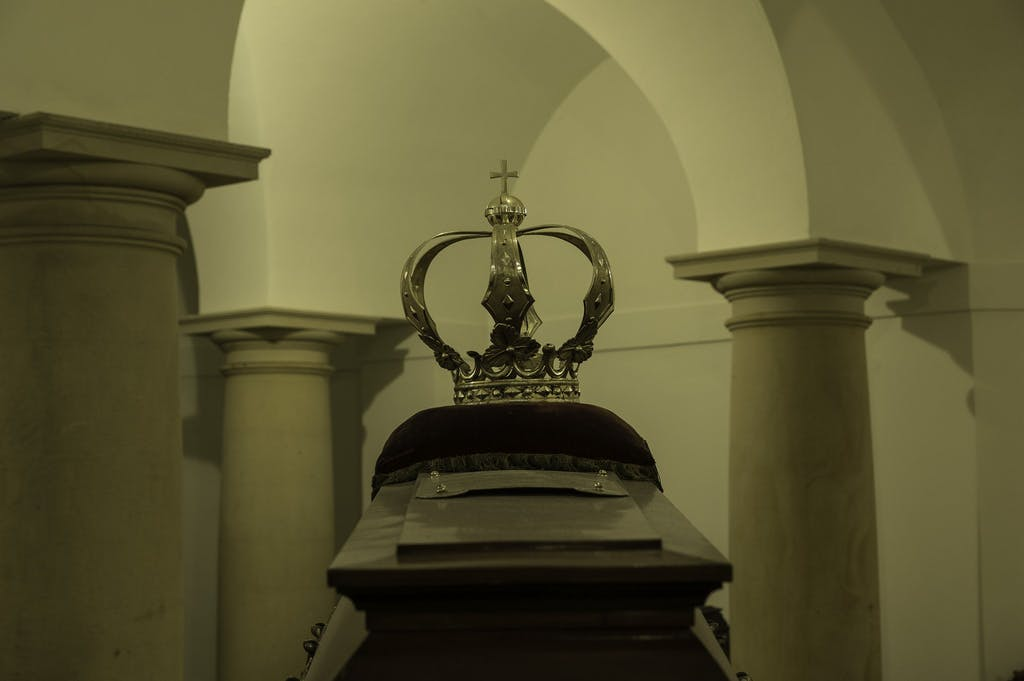 Detail from the crypt inside Berlin cathedral