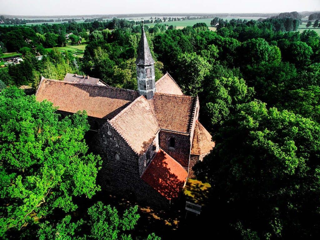 Luftaufnahme Kloster Zinna