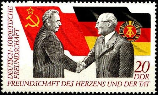 Briefmarke zur deutsch-sowjetischen Freundschaft