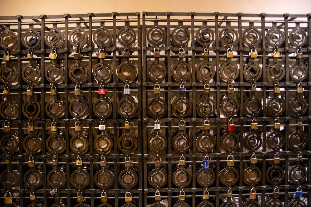 The big tavern halls all have these lockers for the regular's beer steins