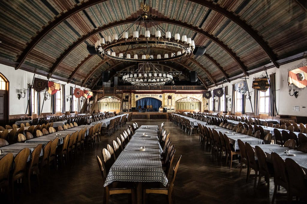 The upper hall of Hofbräuhaus, where the Nazis held a lot of their rallies