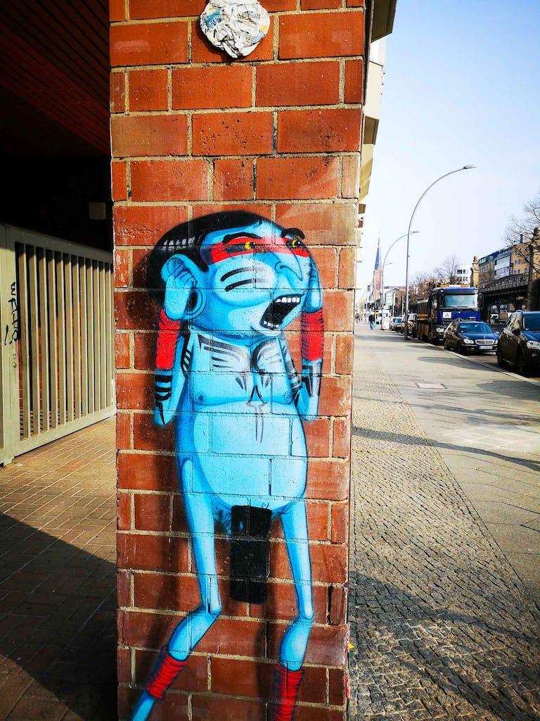 Blue Indian von Cranio, Bülowstraße