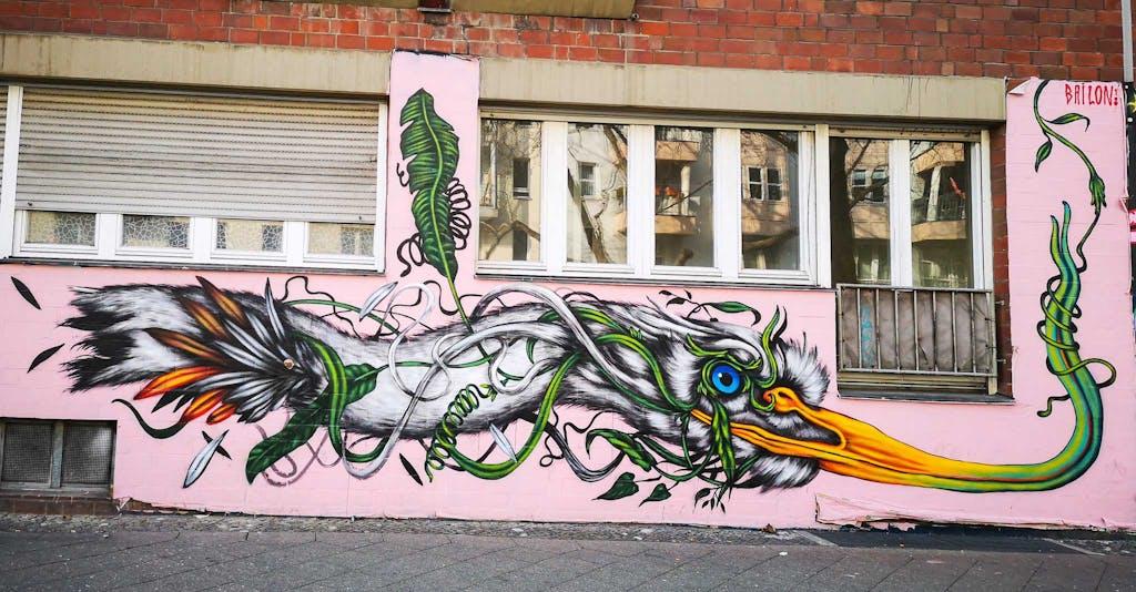 graffiti on a brick building