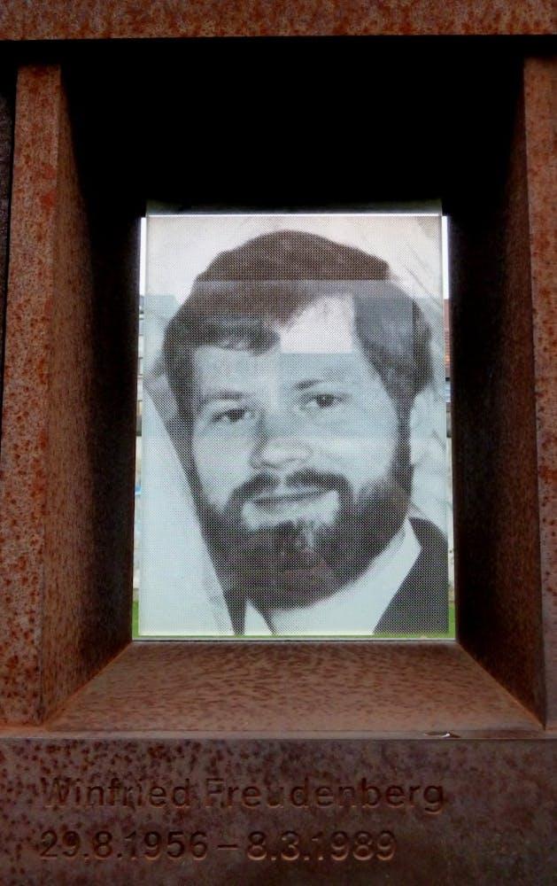 Portrait of the last victim of the Berlin Wall: Winfried Freudenberg.