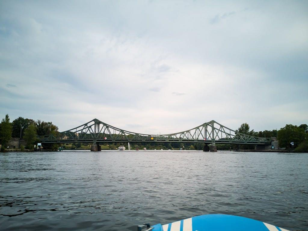 Glienicker Brücke, the original bridge of spies, connecting Berlin and Brandenburg at the Wannsee lake.