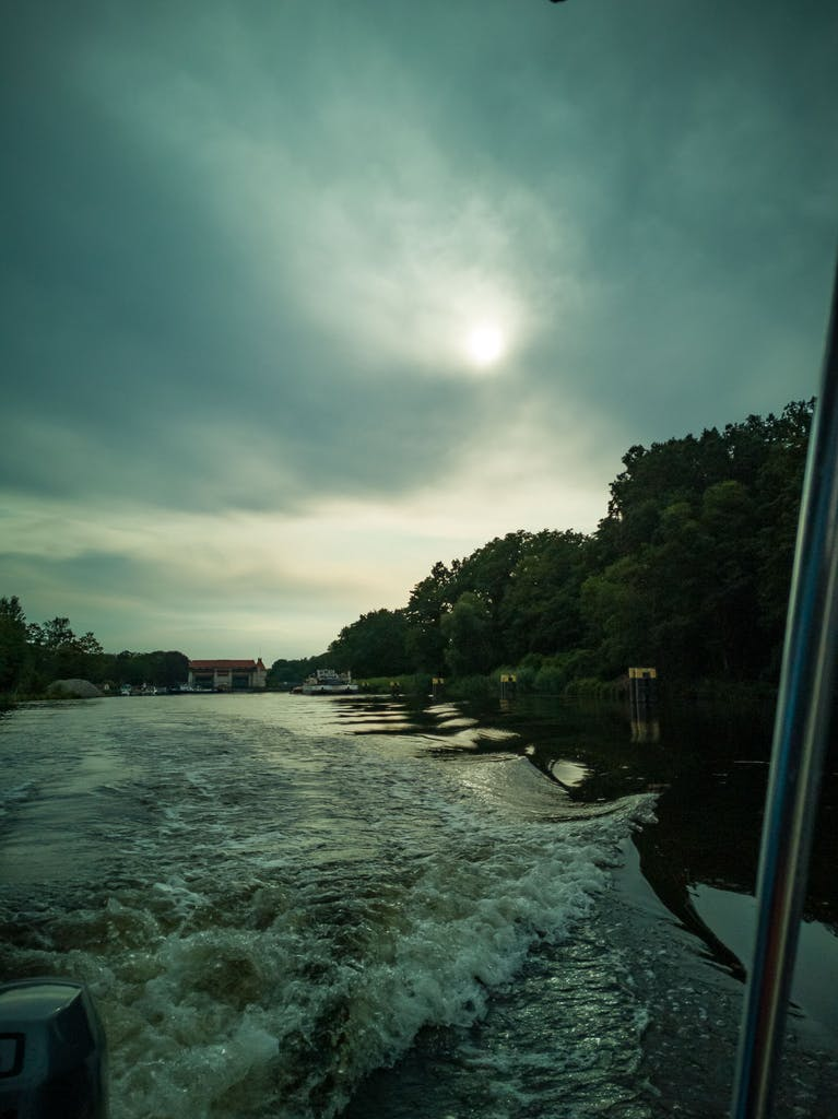 Scooting along Teltow canal