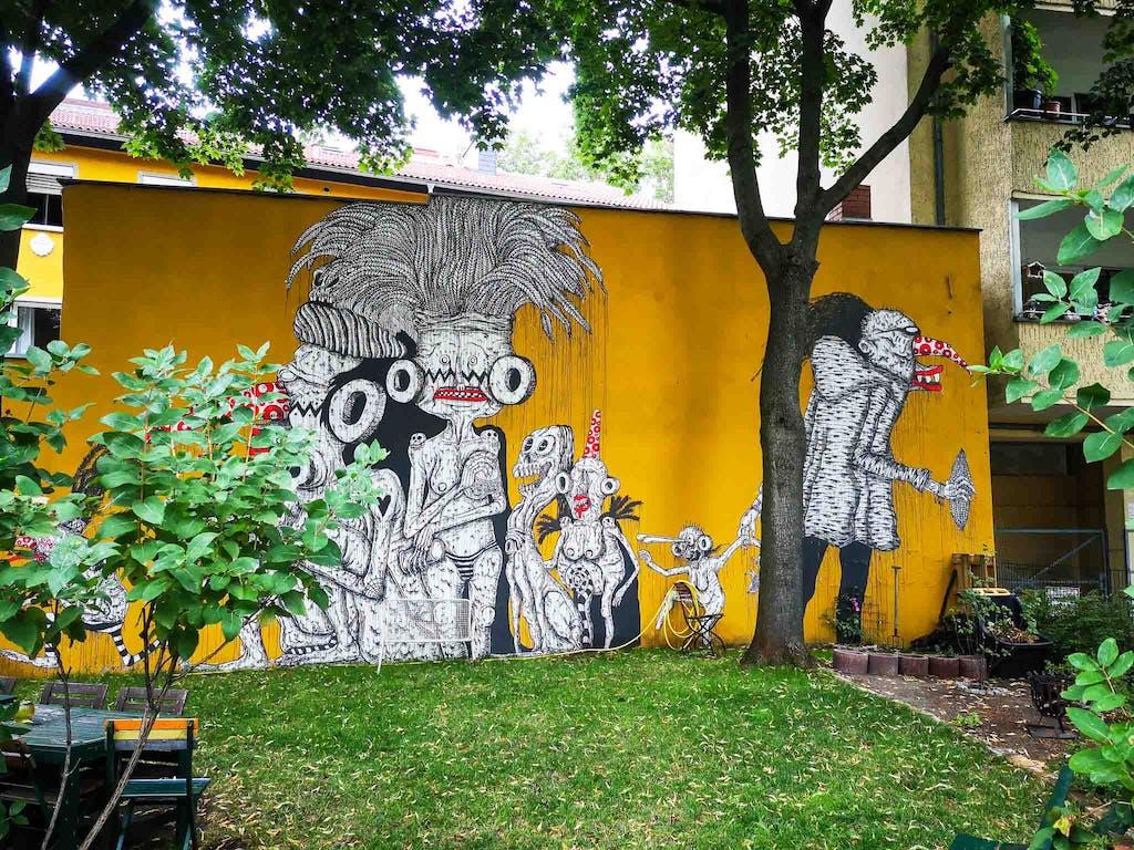 Mural in Berlin Neukölln
