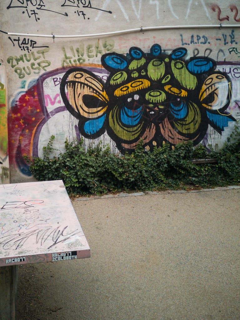 graffiti on a wall in Rixdorf