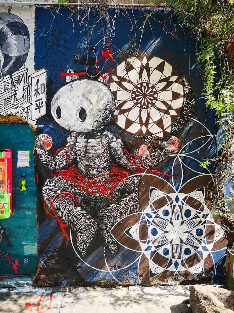 graffiti in Haus Schwarzenberg