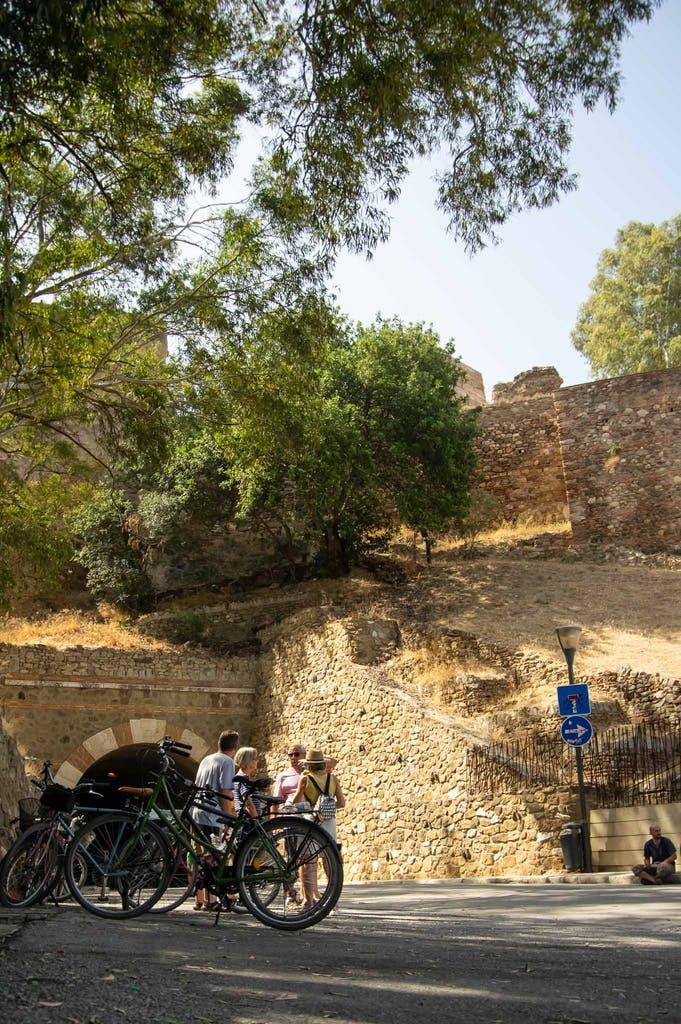 The ride up to Alcazaba was seriously steep.