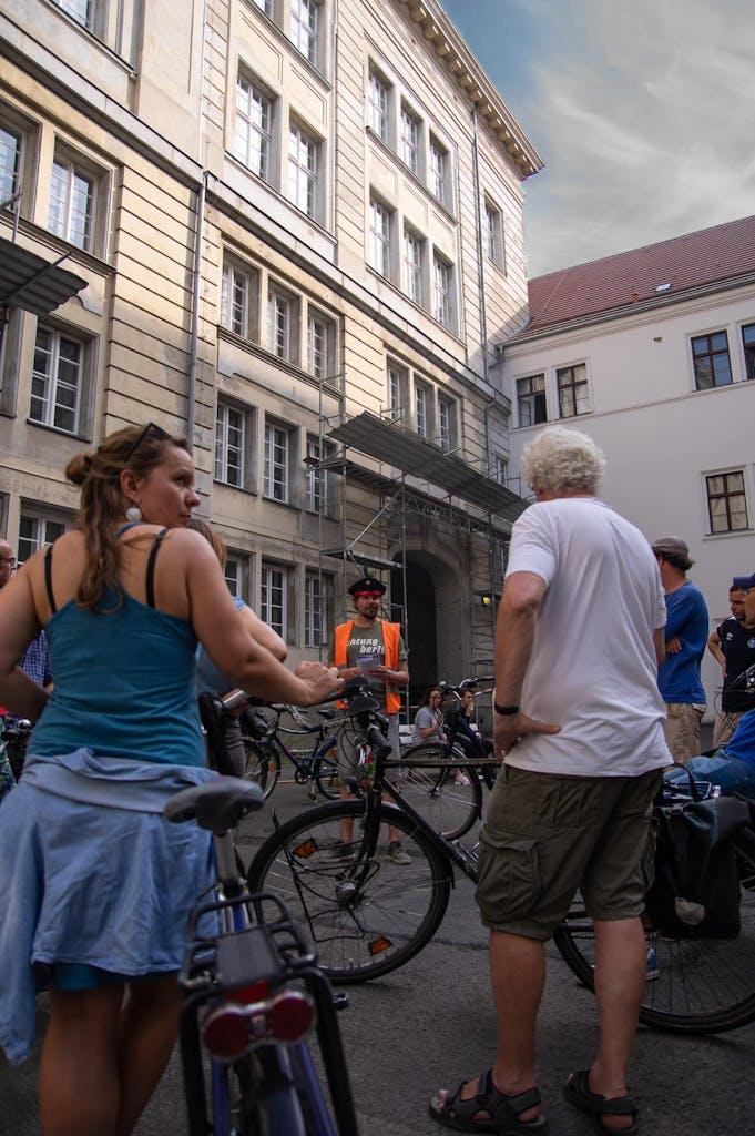 Auf dem Hof des Großen Marstals in Berlin Mitte