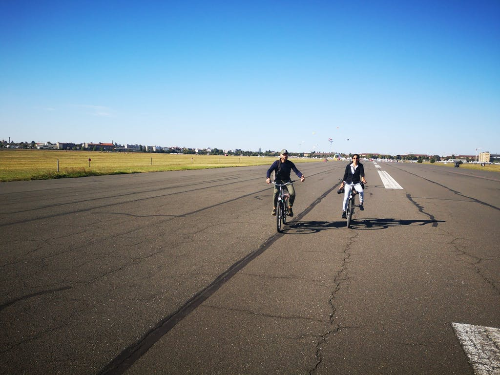 Riding along the former runway with the wind in your back is among the best things you can do on a bike in Berlin.