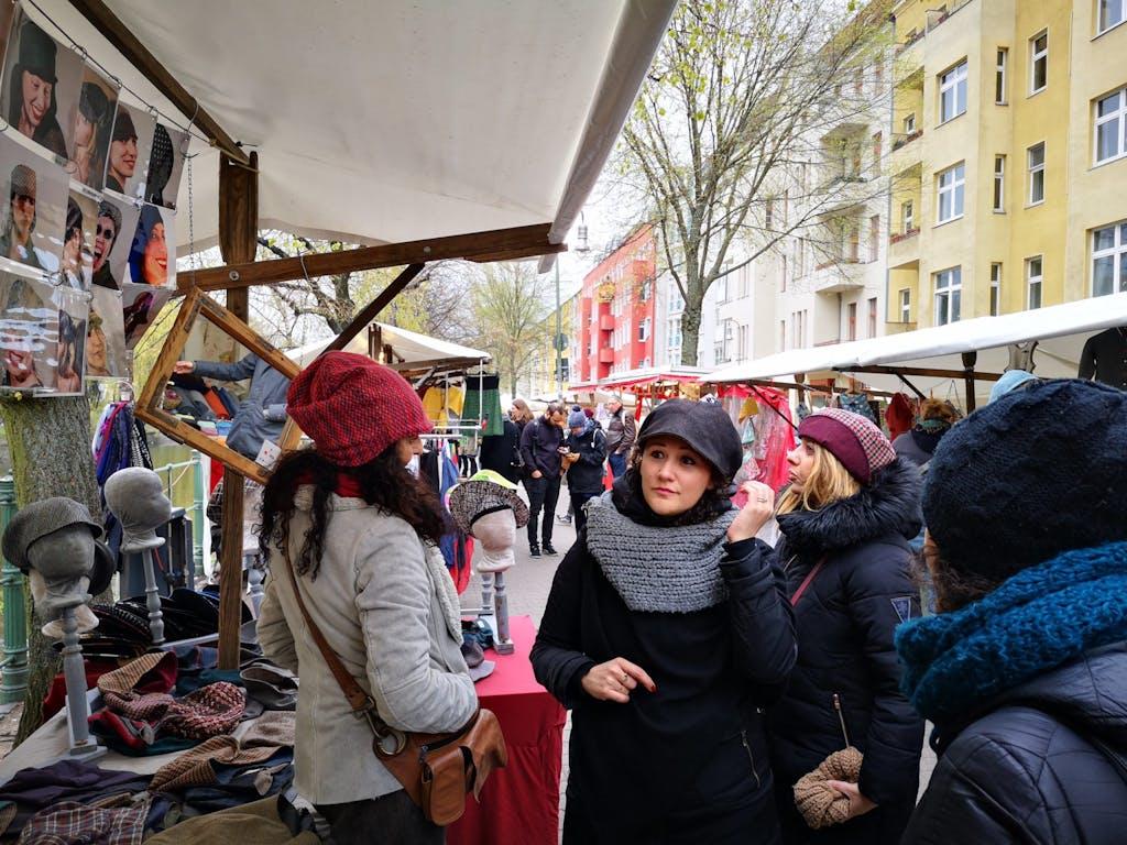 Market day at Maybachufer: Neuköllner Stoff, every Saturday.
