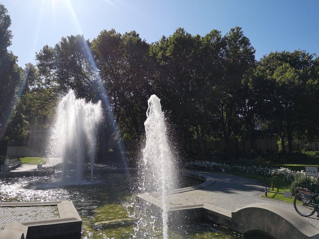 The fountain at Körnerpark