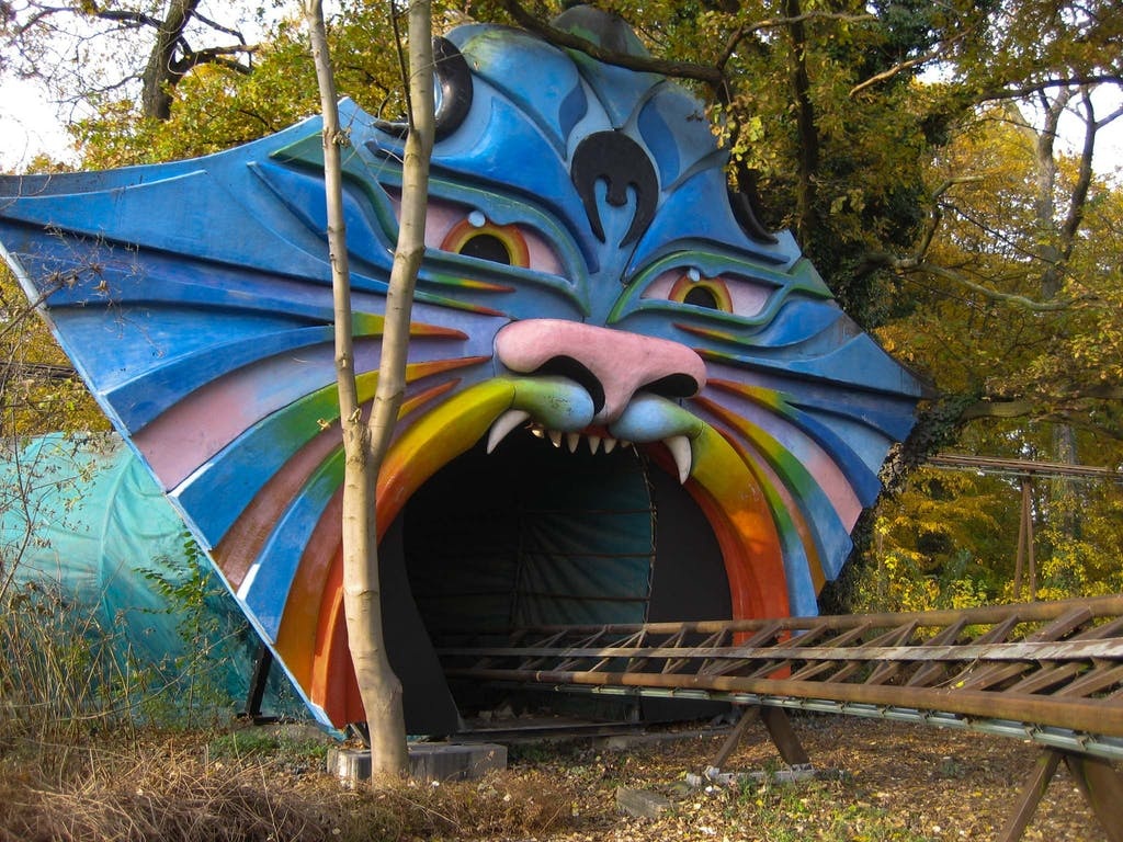 Entry to a ride at the Spreepark. Thanks to the movie Hannah one Berlin'S most famous lost places.