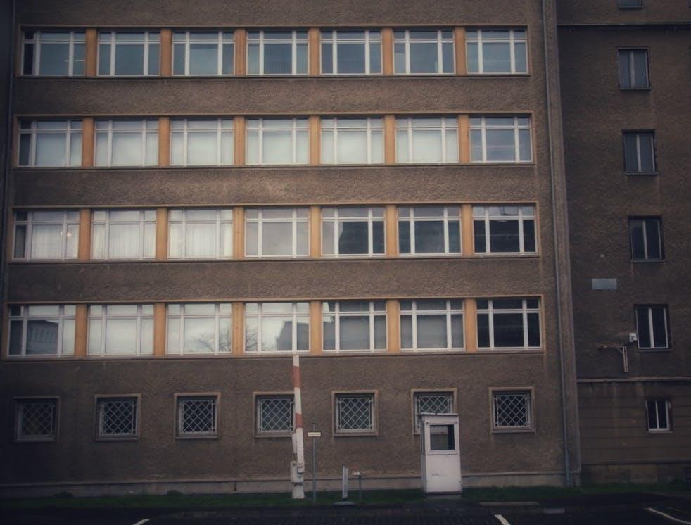 Wachhäuschen in der ehemaligen Stasi-Zentrale