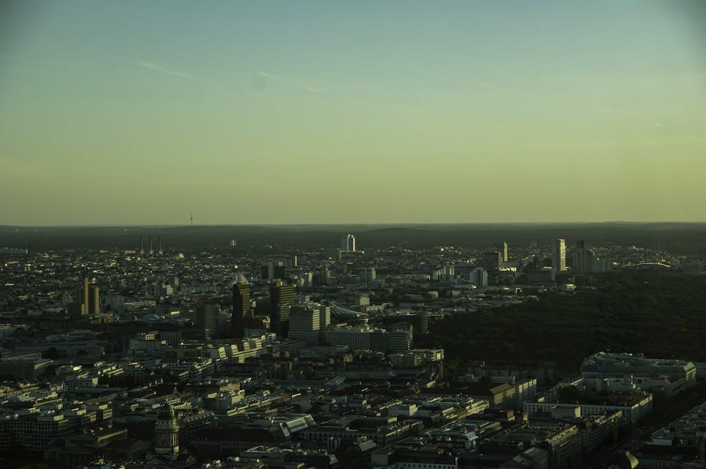 Berlin von oben, Blick auf den Potsdamer Platz und die City West mit