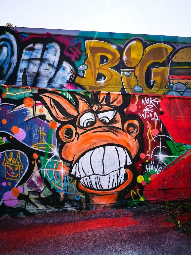 a graffiti at Urban Art Hall