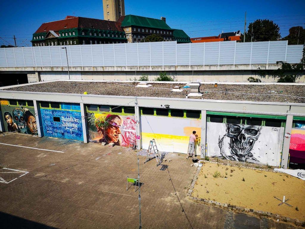 Graffiti an der Urban Art Hall