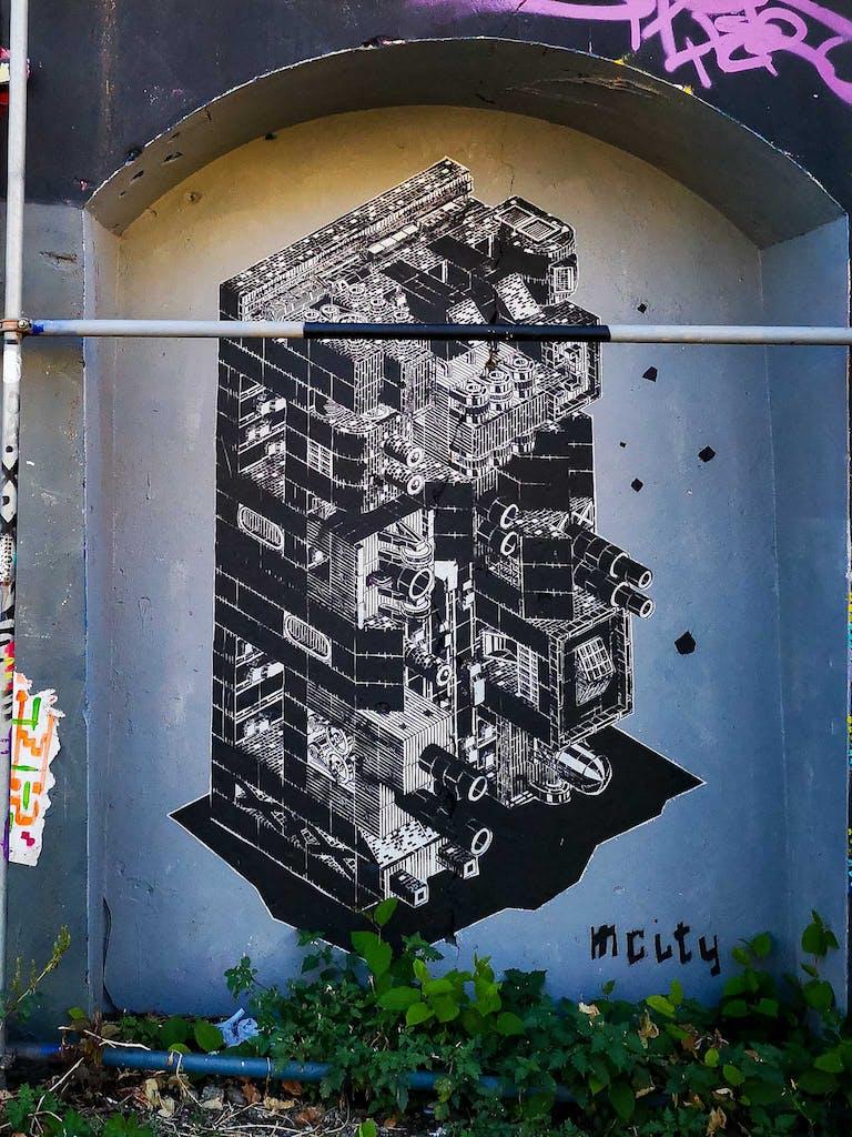 Paste-up at Urban Spree