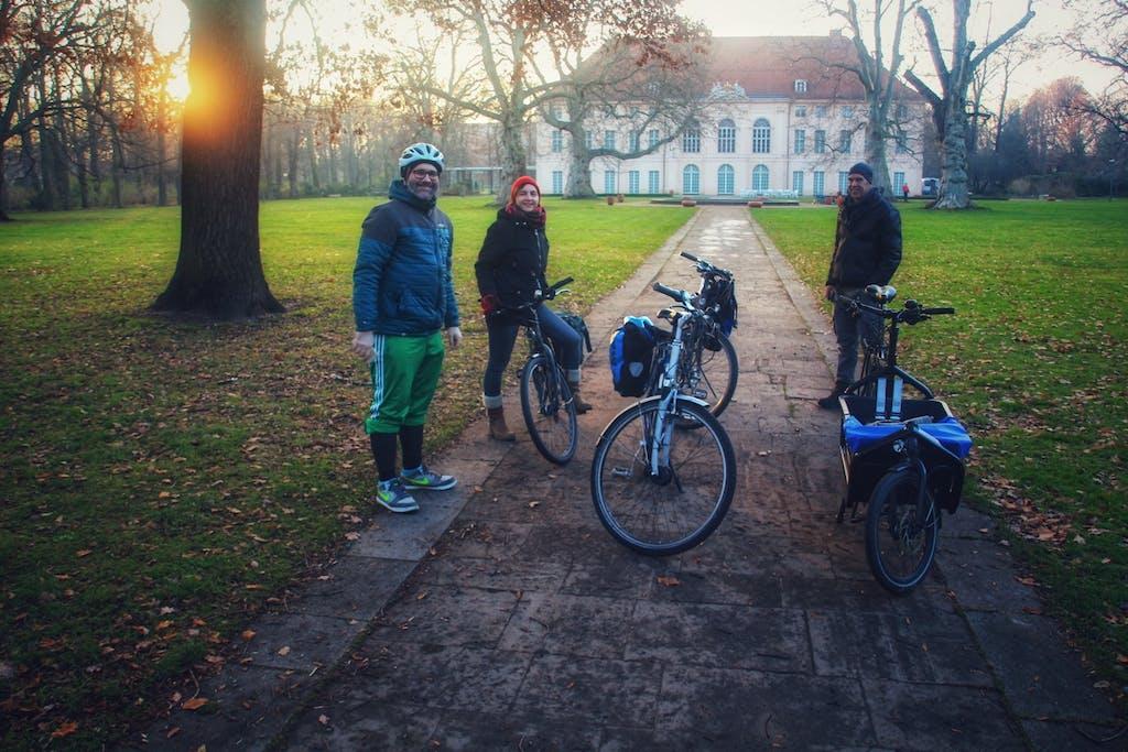 Der Schlosspark am Schloss Schönhausen von Königin Elisabeth Luise bildet einen stimmungsvollen Abschluss unserer Radtour.