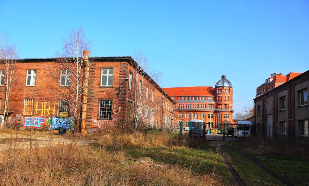 Im Hof der Kreativstadt Weißensee tun sich viele tolle Perspektiven auf.