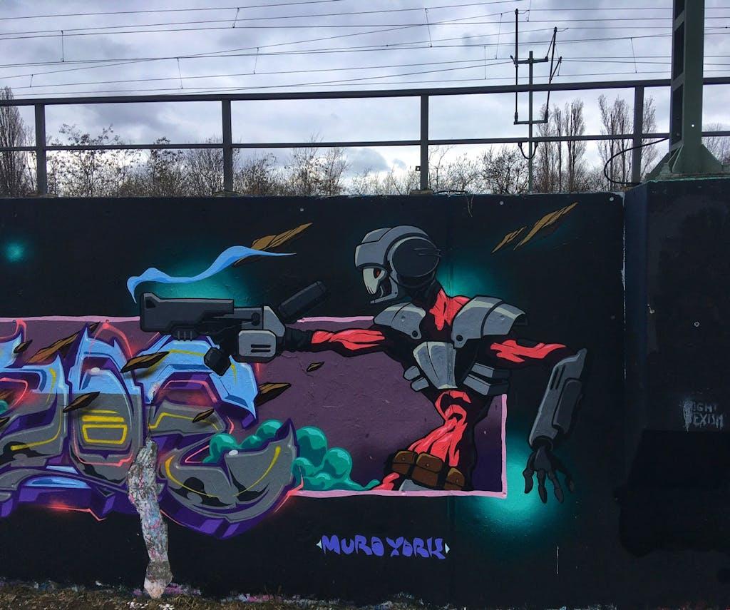 Graffiti am Park am Gleisdreieck