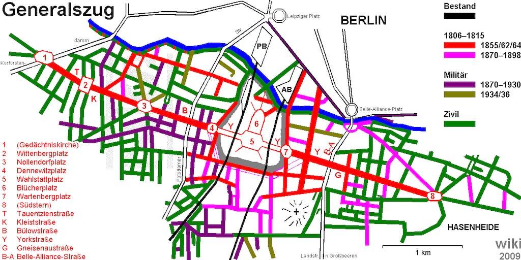 Generalszug vom Breitscheidplatz zum Südstern (Quelle: von SHZ.de - Eigenes Werk, CC BY-SA 3.0)