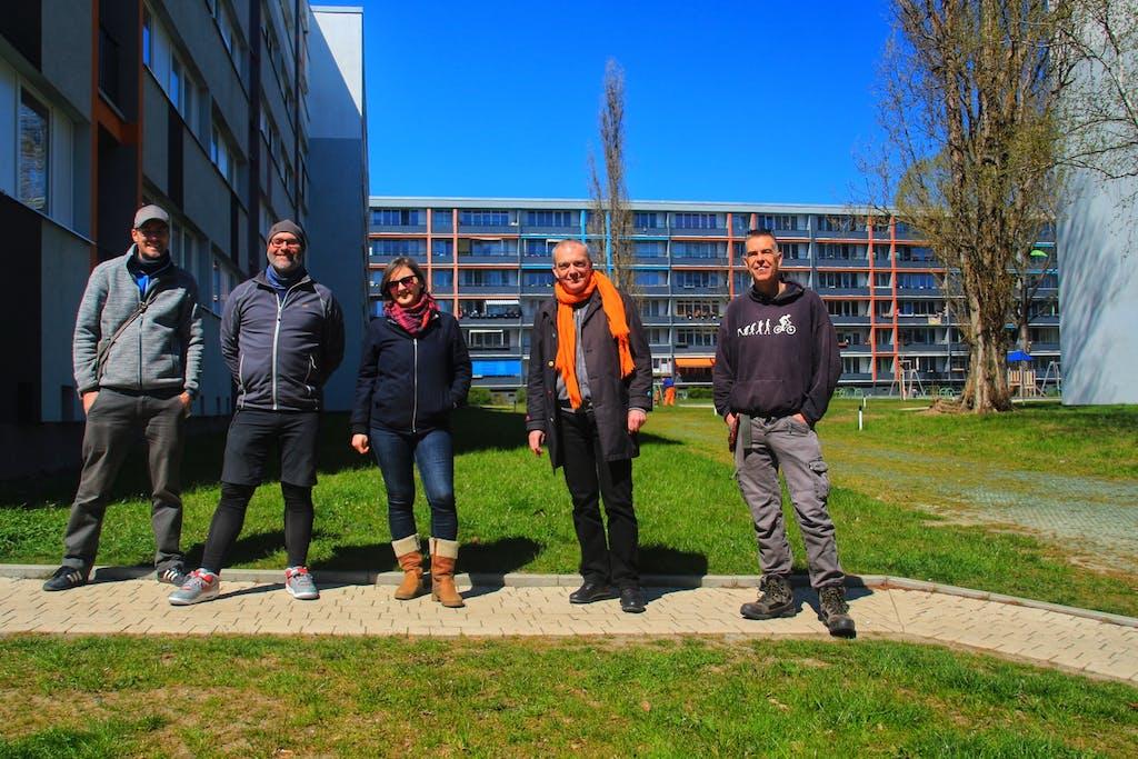 Berlin on Bike Team und Gilles am Kiezcontainer