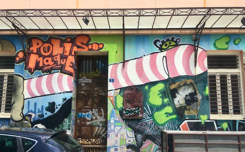 Graffiti Wand Athen