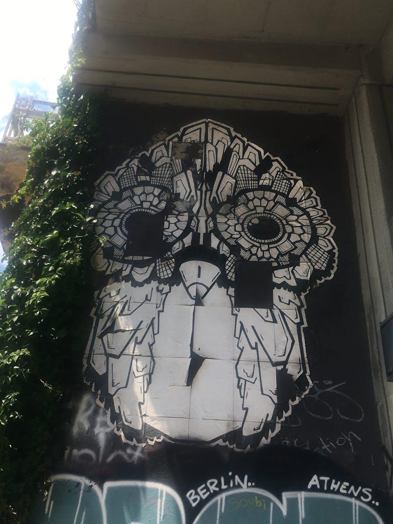 Graffiti Eule Athen