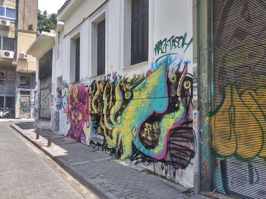 Graffiti Krake Athen