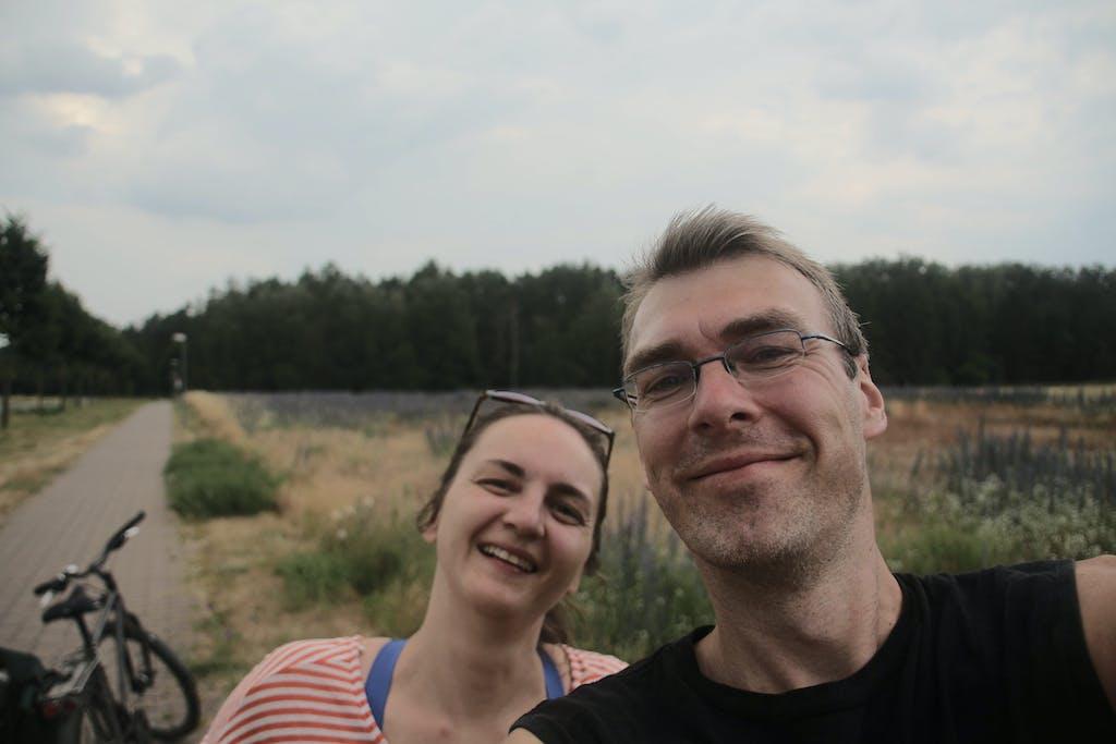 Judith und Martin auf der Radtour